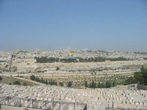 Looking at the Temple from the Mount of Olives