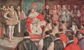 king James at the Authorisation of the new Bible