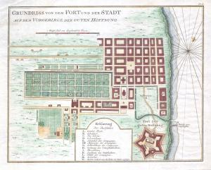 Map of Cape Town in the 18th century
