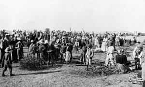 British concentration camp during the Boer War. Photograph- Hulton Getty